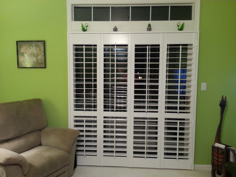 Yocum Shutters and Blinds - Open Plantation Shutters