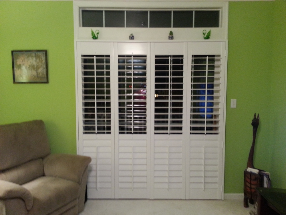 Yocum Shutters and Blinds - Half Open Plantation Shutters