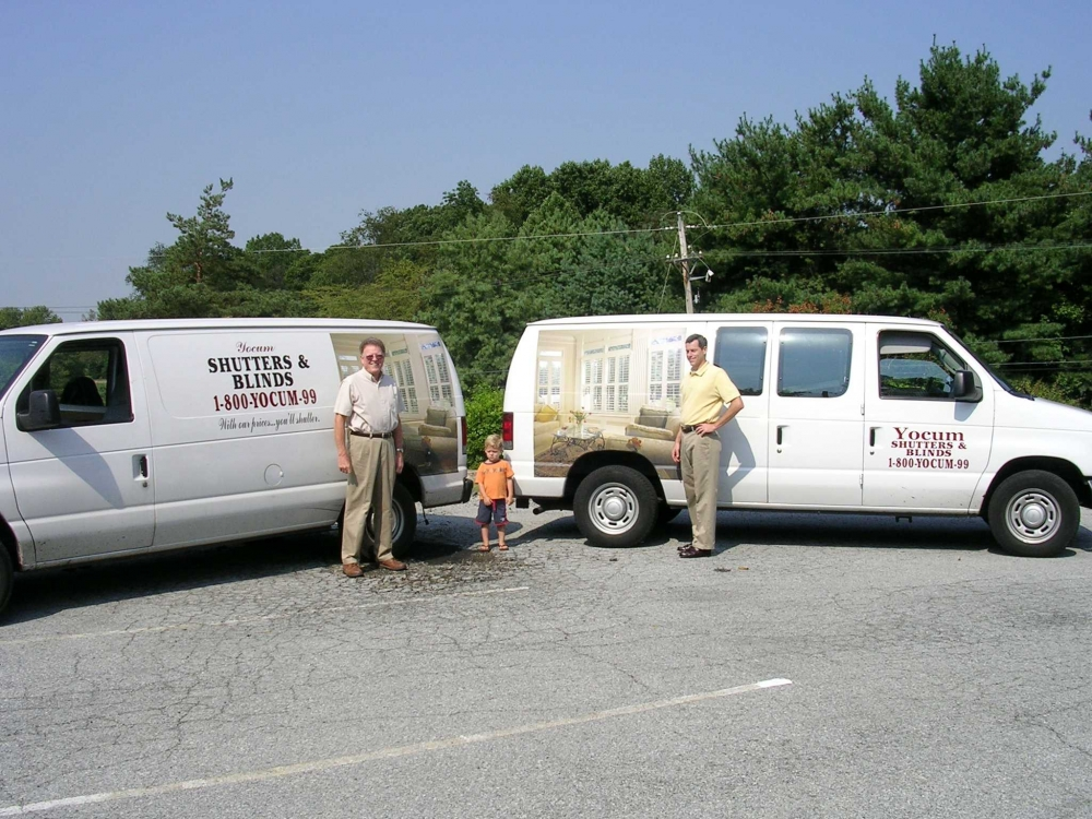 Yocum's Shutters and Blinds - delivery vans
